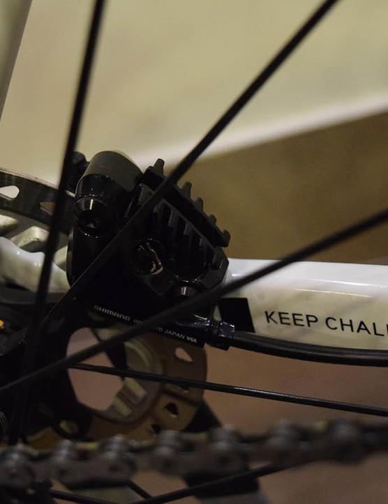 Cervelo's new S5 frameset is available as a disc-only brake system