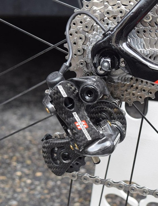 A closer look at the Campagnolo Super Record EPS rear derailleur