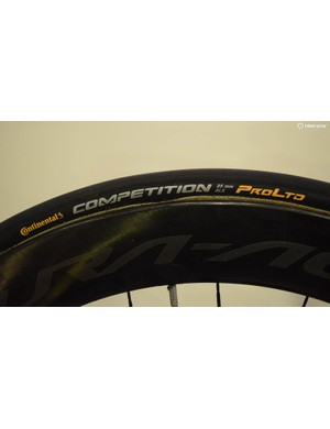 As well as switching frameset supplier, Team Sunweb has also switched from Vittoria to Continental tyres