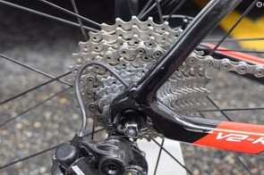 Martin's bike was equipped with an 11-29 cassette