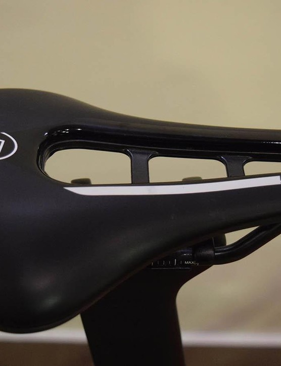 Matthews runs a Pro Stealth carbon saddle