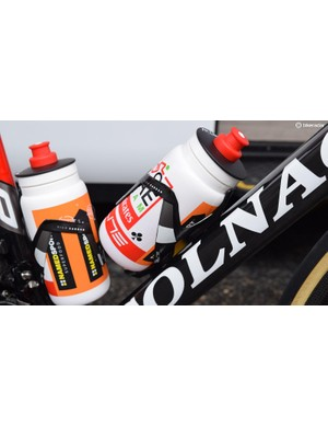 As with several WorldTour teams, UAE Team Emirates use Elite Vico Carbon bottle cages