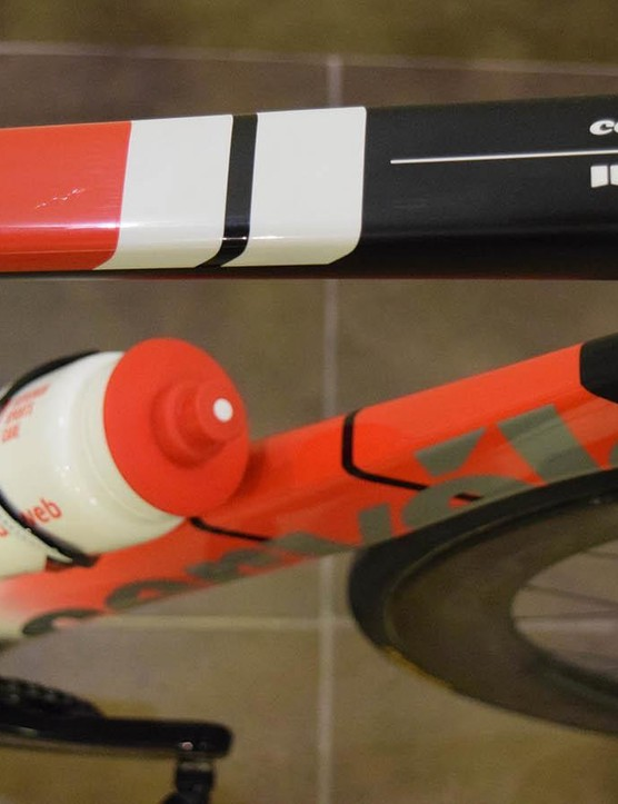 The busy paint design makes the most of Team Sunweb's colours