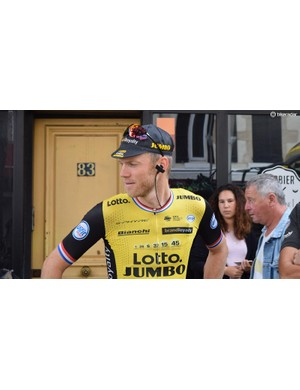 Lars Boom and his LottoNL-Jumbo teammates wear clothing and eyewear from Shimano's S-Phyre range