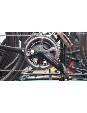 Michal Kwiatkowski's spare bike was equipped with a Shimano power meter