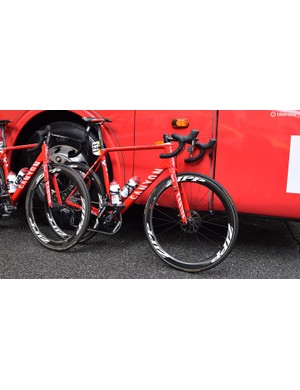 Team leader Ilnur Zakarin was the only Katusha-Alpecin rider on a disc-equipped Canyon Ultimate CF SLX for the race