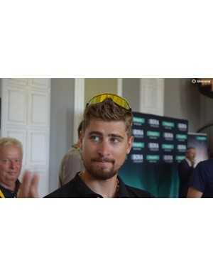 Peter Sagan had special edition 100% sunglasses for the 2018 Tour de France