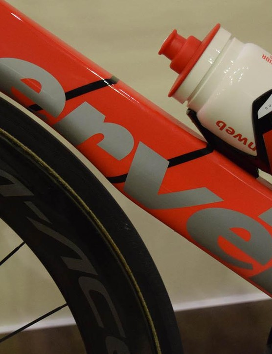 The down tube of the frame also features a small cutaway section to improve airflow around the wheel and frame area