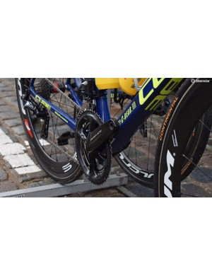 Only minutes from the race start, Van Keirsbulck didn't have any pedals attached to his bike