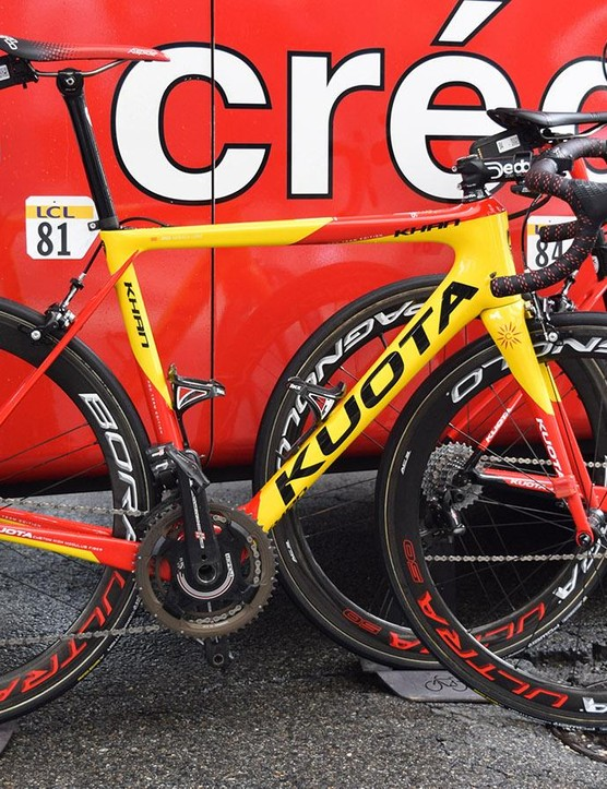 Jesus Herrada's Kuota Khan in custom colours for the Spanish national road race champion