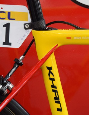 The frameset also has Herrada's name in decals on the top tube