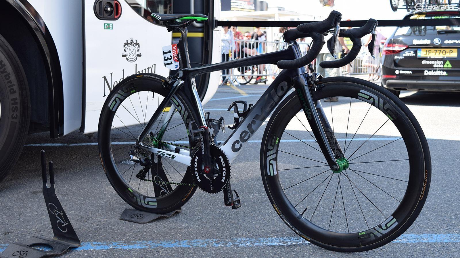 Mark Cavendish's custom-painted Cervelo S5