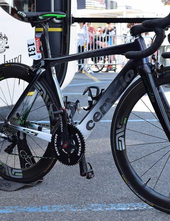Mark Cavendish's custom-painted Cervelo S5