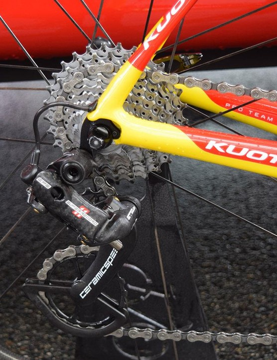 Cofidis customises its Campagnolo Super Record rear derailleurs with CeramicSpeed's OSPW system