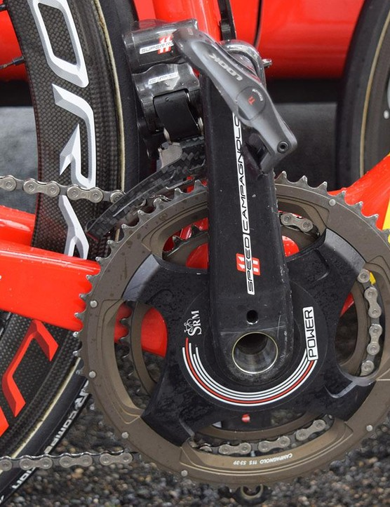 Campagnolo SRM power meter cranksets for the French Pro Continental team