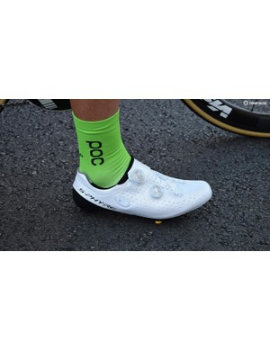 Shimano's S-Phyre shoes are popular throughout the peloton
