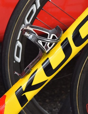 Herrada's bike is equipped with Tacx Deva bottle cages