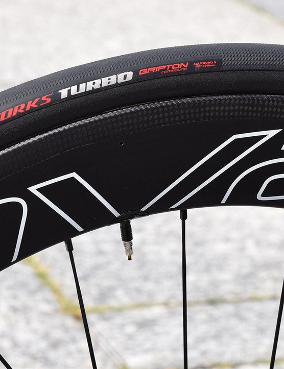 The Specialized S-Works Venge frameset has been optimised for use with 26mm tubular tyres