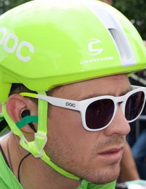 POC Require sunglasses were also seen in the distinctive colourway