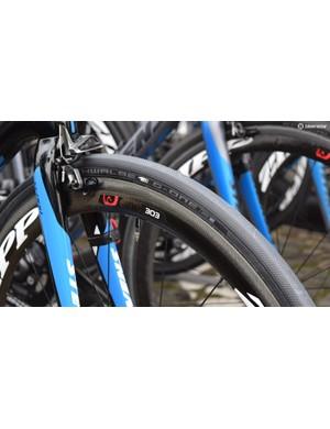 Wout Van Aert's Veranda's Willems-Crelan team use Schwalbe G-One tyres