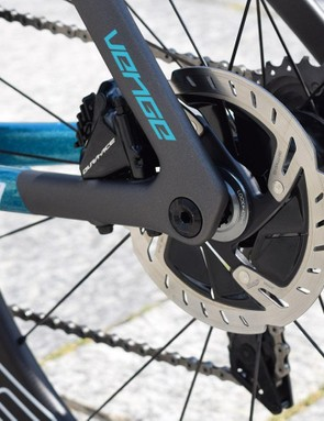 The Venge features the Shimano flat mount standard front and rear