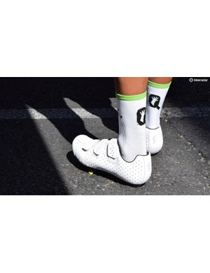 Lachlan Morton is the only WorldTour rider to wear Rapha shoes