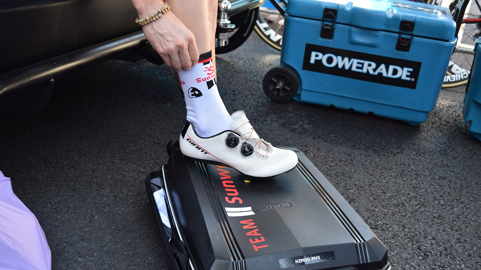 Giant's new shoes were worn by each Team Sunweb rider during the Tour Down Under