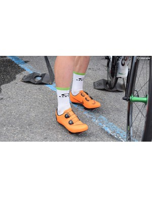 Mark Cavendish's custom Nike cycling shoes