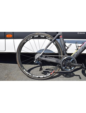 Nibali opts for the 40t variants of the Fulcrum Speed wheelset