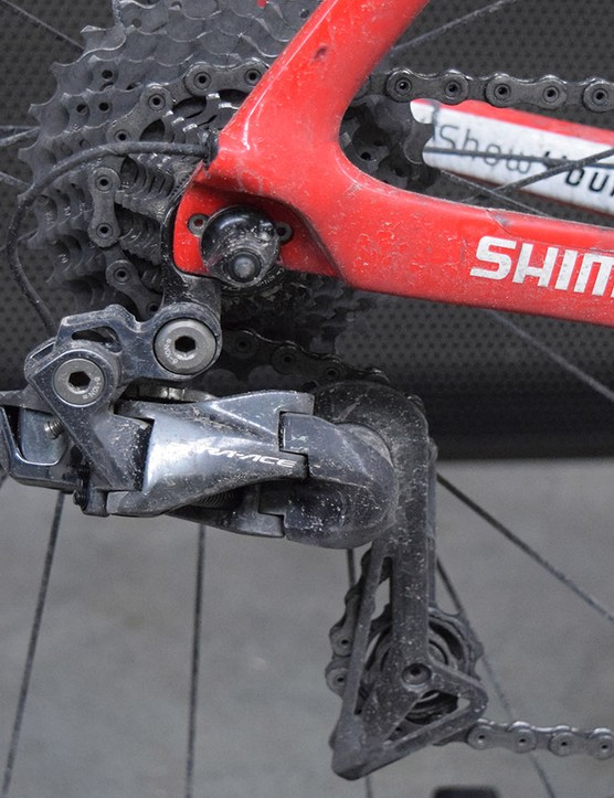 After more than 260 kilometres of racing the drivetrain was suitably dirty