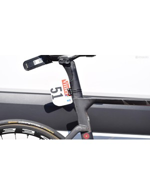 The proprietary seatpost on the Merida Reacto features a damping system to improve rider comfort