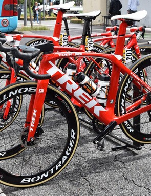 A look at the non-drive side of the Trek Madone Disc