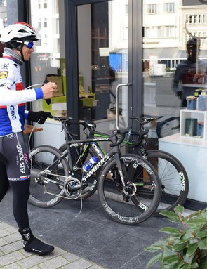 Stybar carried a small bicycle lock with him during the ride