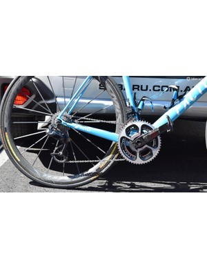 AG2R La Mondiale equip their Factor O2 bikes with CeramicSpeed's oversized pulley wheel system, which claims to improve drivetrain efficiency