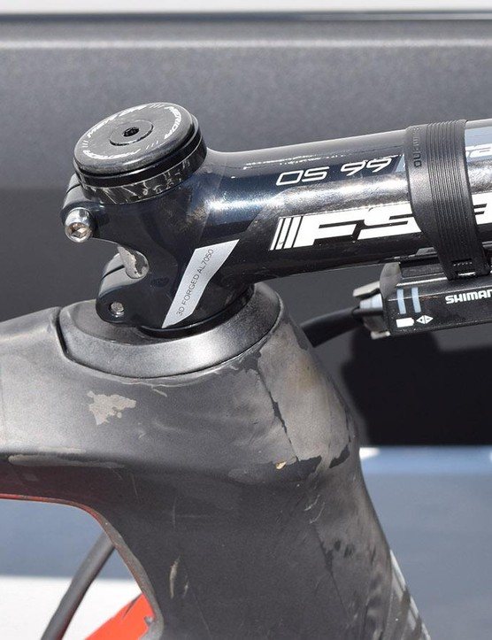 Vincenzo Nibali runs a 125mm FSA OS-99 alloy stem