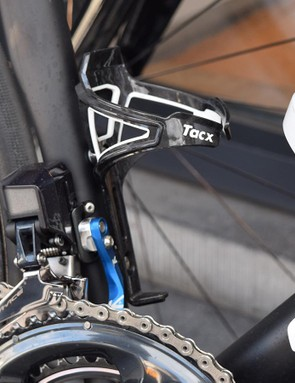 Quick-Step Floors uses Tacx Deva bottle cages while K-Edge provides computer mounts and chain catchers for the team