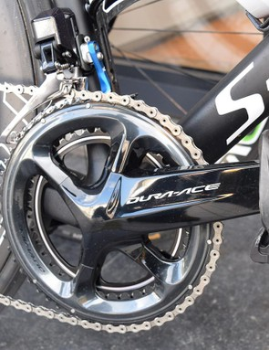 The bike was not equipped with a power meter for the recovery ride