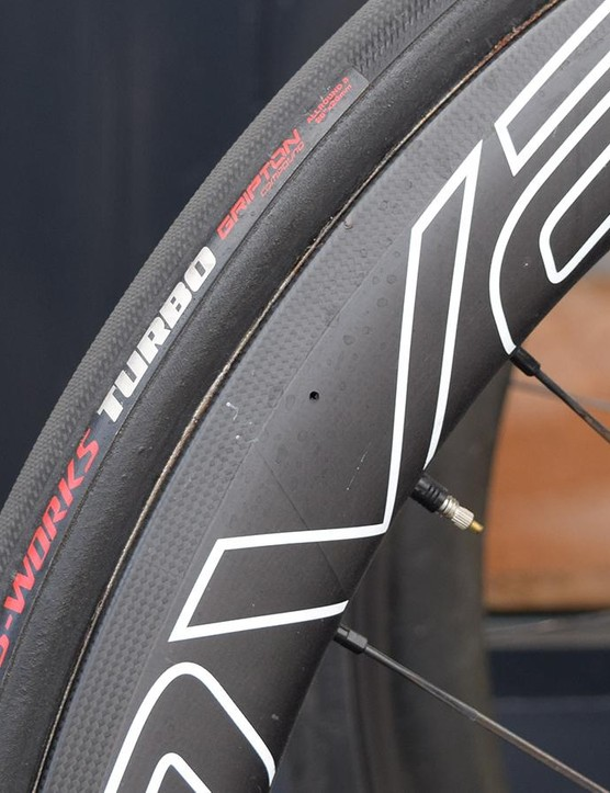 Quick-Step Floors generally runs S-Works Turbo tyres in the 26mm width option