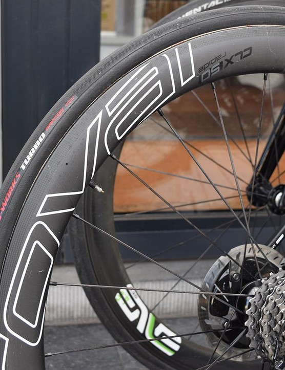 Specialized's wheel provider Roval provides the team with CLX 50  wheels