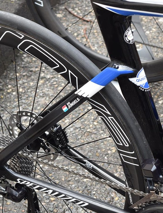 The chainstays on the new frame are slightly deeper than the current Venge, but retains a similar aero design with seatstays that come away from the seat tube