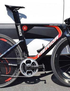 Vincenzo Nibali's Merida Time Warp TT