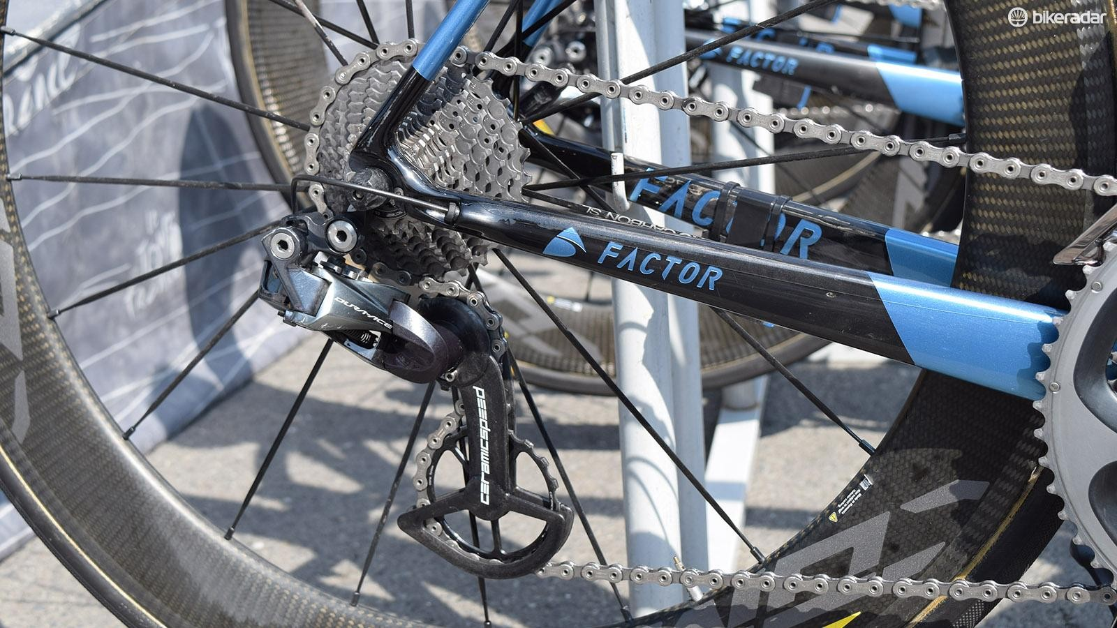 AG2R La Mondiale run CeramicSpeed's OSPW system on all of its rear derailleurs