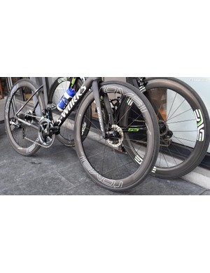The bike was equipped with a full Shimano Dura-Ace R9170 groupset