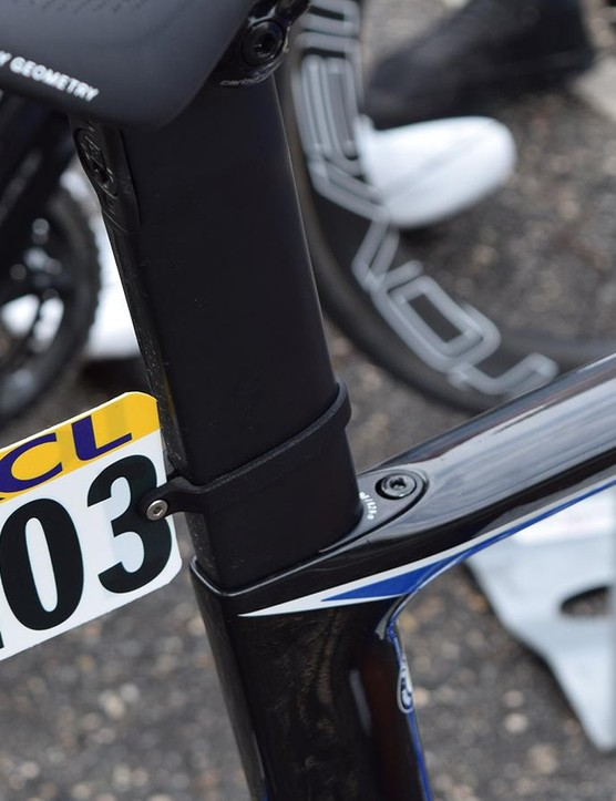 A wedge-system looks to secure the seat post in a similar way to the latest Specialized Tarmac SL6
