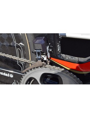 Shimano Dura-Ace R9150 derailleurs provide the shifting on Nibali's Merida