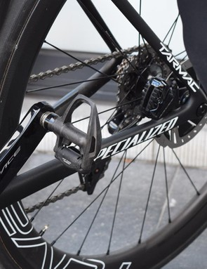 Shimano Dura-Ace R9100 pedals for the Czech rider