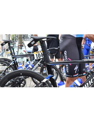 The top tube appears to slope less than the current Venge