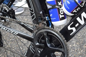 The front derailleur mount looks to be removable, allowing for a tidy setup in a 1X option