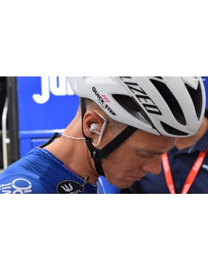 Quick-Step Floors have been using headphone pieces from Bang and Olufsen this season