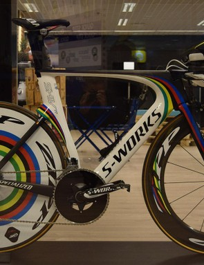 Tony Martin's 2014 Specialized S-Works Shiv in world champion colours